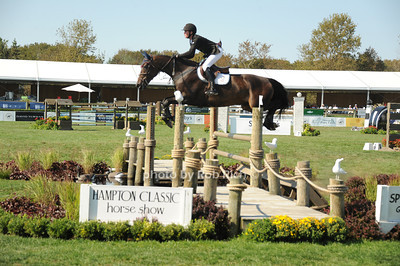 Darragh Kenny competes at the Hampton Classic Horseshow Day 3. (September 2, 2011))