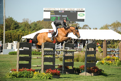 Geoffrey Case competes at  the Hampton Classic Horseshow Day 3. (September 2, 2011))