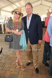 Cathy Hilton and Rick Hilton attend the Hampton Classic Horseshow Grand Prix. (September 4, 2011)
