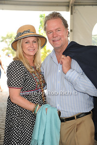 Kathy Hilton and Rick Hilton  attend  the Hampton Classic Horseshow (September 4, 2004)