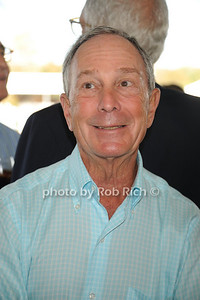 Mayor Bloomberg attends the Hampton Classic Horseshow Grand Prix. (September 4, 2011)