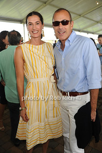 Annette Lauer and Matt Lauer attend the Hampton Classic Horseshow Grand Prix. (September 4, 2011)