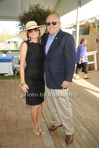 Judith Guiliani, Rudy Guiliani attend the Hampton Classic Horseshow Grand Prix. (September 4, 2011)