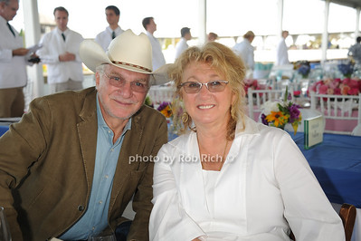David Yurman and Sybil Yurman attend the Hampton Classic Horseshow Grand Prix. (September 4, 2011)