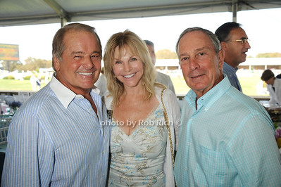 Rod Gilbert, Judy Gilbert, and Mayor Bloomberg attend the Hampton Classic Horseshow Grand Prix. (September 4, 2011)