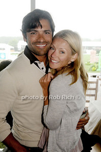 August 29- Bridgehampton:(l-r) Mark Consuelos and Kelly Ripa  attend the Hampton Classic Horseshow in Bridgehampton on  August 29, 2009.  photo by Rob Rich /SocietyAllure.com