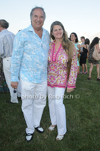 Stewart Lane, Bonnie Comley attends the Hamptons Magazine Clambake at the Montauk Yacht Club (July 17, 2011)
