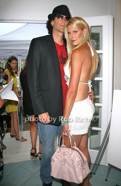 Howard Stern and Beth Ostrosky attend the Hamptons Magazine Cover Party at the Capri Hotel (July 8, 2011)