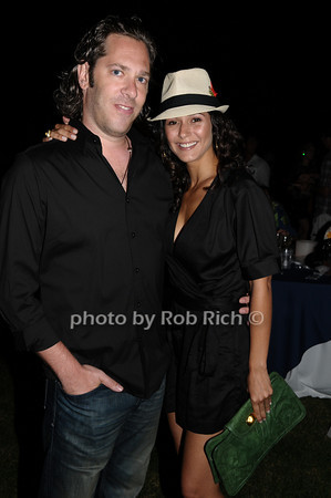 Rick Schwartz and Emmanuelle Chriqui<br /> photo by Rob Rich © 2009 robwayne1@aol.com 516-676-3939