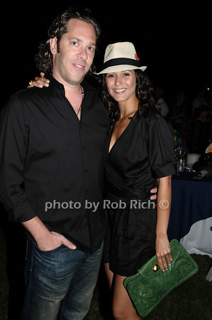 Rick Schwartz and Emmanuelle Chriqui<br /> photo by Rob Rich © 2009 robwayne1@aol.com 516-676-3939