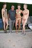 La Perla models with Alan Lieberman<br /> photo by Rob Rich © 2009 robwayne1@aol.com 516-676-3939