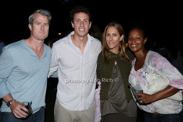 Steven Musumeci, Chris Cuomo, Cristina Greeven Cuomo, Jossyan Musumeci<br /> photo by Rob Rich © 2009 robwayne1@aol.com 516-676-3939
