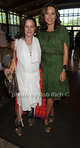 Patricia Arquette and Maiska Hargitay attend the Hamptons for Haiti Brunch at the Ross School (July 17, 2011)