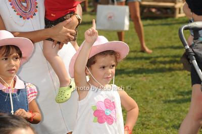 Enjoying Kid's Day  on  day 4 of the Hampton Classic Horseshow (September 3, 2011)