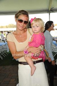 Aimee Astarata and Evangeline Astarata attend kids day on  day 4 of the Hampton Classic Horseshow (September 3, 2011)