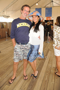 Chris Robbins and Cassandra Seidenfeld Lyster attend  day 4 of the Hampton Classic Horseshow (September 3, 2011)