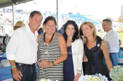 Stuart Match Suna, Fern Mallis, Vicky Suna, and Michelle McFaul attend  day 4 of the Hampton Classic Horseshow (September 3, 2011)