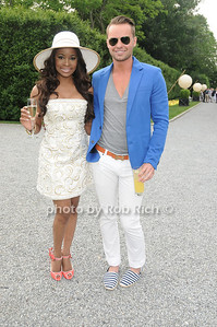 Nyasha Zimucha and  Derek Saathoff  attend the Midsummer Night Drinks to Benefit God's love We Deliver at the home of Jeff Pfeifle, (May 29,2011)
