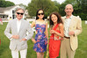 Geoffrey Bradfield, Chiu- ti Jansen, Baroness Sheri de Borchgrave and  David  Braunstein attend the Midsummer Night Drinks to Benefit God's love We Deliver at the home of Jeff Pfeifle, (May 29,2011)