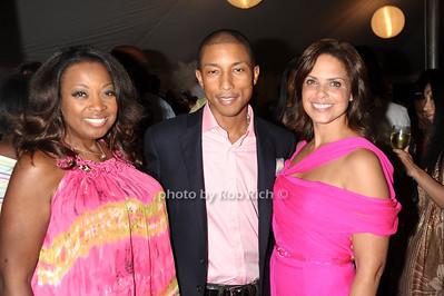 Star Jones, Pharrell Williams, Soledad O'Brien photo by Rob Rich © 2011 robwayne1@aol.com 516-676-3939