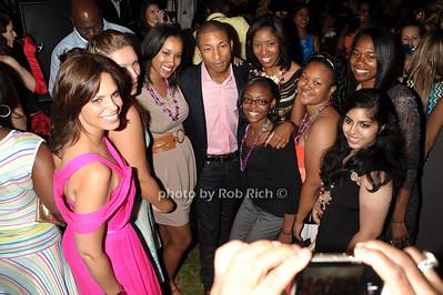 Soledad O'Brien, Pharrell Williams, guests photo by Rob Rich/SocietyAllure.com © 2011 robwayne1@aol.com 516-676-3939