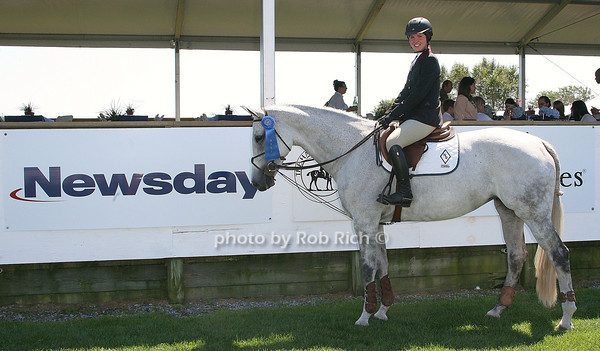 """Hillary Dobbs on Udento VDL Winning the Class: 201 """"Wolffer Estate Open Jumper"""" attends the opening day of the Hampton Classic Horseshow (August 31, 2011)"""