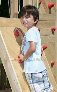 Sutter Schwartz  on the Rock Climber  at the opening day of the Hampton Classic Horseshow (August 31, 2011)