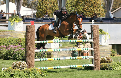 Hillary Dobbs and  Marengo compete at  the opening day of the Hampton Classic Horseshow (August 31, 2011)