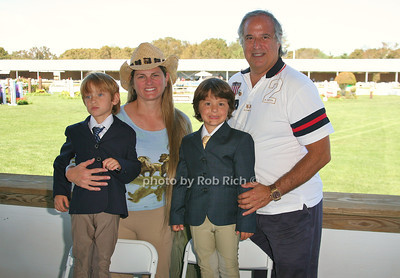 Frankie Lane, Bonnie Comley, Lenny Lane, and Stewart F. Lane attend the opening day of the Hampton Classic Horseshow (August 31, 2011)