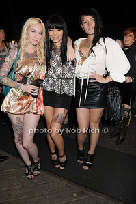 Lia Jung, Alessandra Nicole, and Cat King attend Dennis Rodman's birthday party at AXE Lounge (June 4,2011)