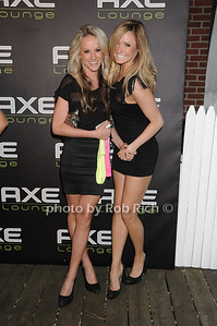Ashley Bartlett and  Caroline Christman attend Dennis Rodman's birthday party at AXE Lounge (June 4,2011)