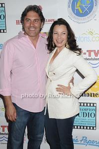 Michael Wudyka, and Fran Drescher attend  the  Cancer Schmancer Family Day At East Hampton Studio (June 19, 2011)