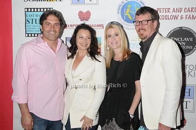 Michael Wudyka, Fran Drescher, Alex McCord, and Simon van Kempen attend  the  Cancer Schmancer Family Day At East Hampton Studio (June 19, 2011)