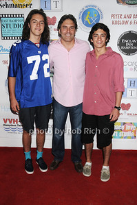 Tucker Wudyka, Michael Wudyka (father of the year), and Wyatt Wudyka attend  the  Cancer Schmancer Family Day At East Hampton Studio (June 19, 2011)