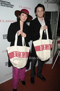Stine Fischer Christensen and Anton Yelchin attend  the Clarins celebrates Lauren Bush Lauren and FEED at HIFF at Nick and Tony's restaurant (October 15, 2011)