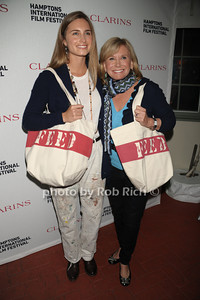 Laruen Bush Lauren and Sharon Bush attend the Clarins celebrates Lauren Bush Lauren and FEED at HIFF at Nick and Tony's restaurant (October 15, 2011)
