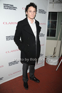 Anton Yelchin attends the Clarins celebrates Lauren Bush Lauren and FEED at HIFF at Nick and Tony's restaurant (October 15, 2011)