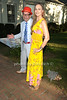 Bruce Helander and  Elizabeth Sobieski attend the Guild Hall Summer Gala at Guild Hall (August 12, 2011)