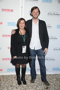 Karen Arikian and David Nugent attend  the HIFF  Chairman's Reception at the residence of Stuart Match Suna.(October 15, 2011).