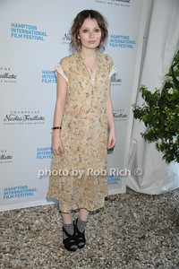 Emily Browning attends the HIFF  Chairman's Reception at the residence of Stuart Match Suna.(October 15, 2011).