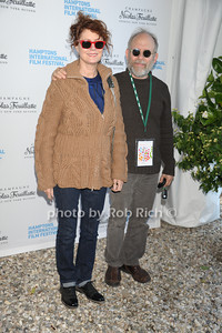 Susan Sarandon and Bob Balaban attend the HIFF  Chairman's Reception at the residence of Stuart Match Suna.(October 15, 2011).