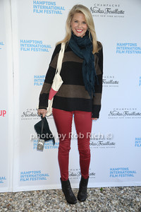 Christie Brinkley attends the HIFF  Chairman's Reception at the residence of Stuart Match Suna.(October 15, 2011).