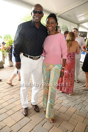 Bridgehampton- August 30:(l-r) Dan Gasby and B.Smith attend the Hampton <br /> Classic Horseshow in Bridgehampton on August 30, 2009.<br /> photo by Rob Rich/SocietyAllure.com