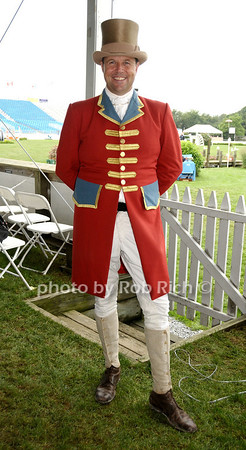 Bridgehampton- August 30:(l-r) Ringmaster Alan Heeley attends the Hampton  Classic Horseshow in Bridgehampton on August 30, 2009. photo by Rob Rich/SocietyAllure.com