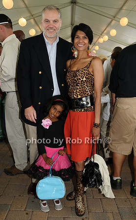 Bridgehampton- August 30:(l-r) Wolffer Estates Winemanker Roman Roth, Dushy Roth, and Indira Roth attend the Hampton  Classic Horseshow in Bridgehampton on August 30, 2009. photo by Rob Rich/SocietyAllure.com