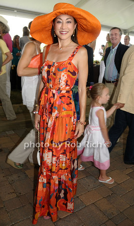 Bridgehampton- August 30:(l-r) Philanthropist Lucia Hwong Gordon attends the Hampton  Classic Horseshow in Bridgehampton on August 30, 2009. photo by Rob Rich/SocietyAllure.com