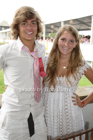 Bridgehampton- August 30:(l-r) NYC Prep star Sebastian Oppenheim, Hillary Saunders attends the Hampton  Classic Horseshow in Bridgehampton on August 30, 2009. photo by Rob Rich/SocietyAllure.com