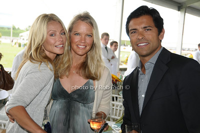 Bridgehampton- August 30:(l-r) Kelly Ripa, Riding instructor Christina Muse, attend the Hampton  Classic Horseshow in Bridgehampton on August 30, 2009. photo by Rob Rich/SocietyAllure.com