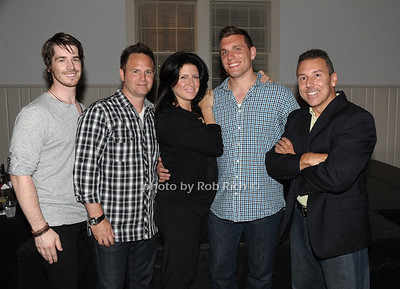 Comedians Mick Thomas, Tim Krompier, Carie Karavas, Chris DeStefano, and Paul Anthony