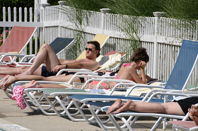 Southampton- July 12:(l-r)  Poolside agt the  Poolside Lawn party at the Southampton Inn on Sunday, July 12, 2009.    (photo by Rob Rich/SocietyAllure.com)